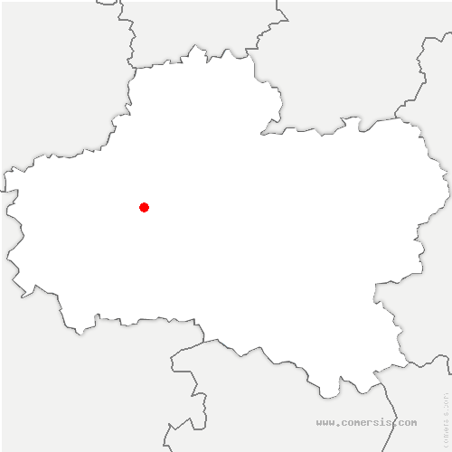 carte de localisation de Vennecy