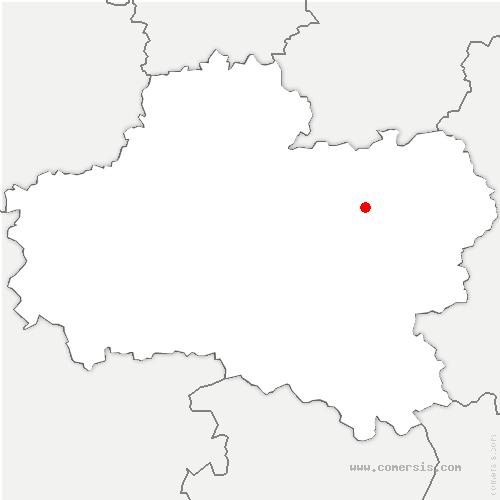 carte de localisation de Villemandeur