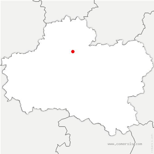 carte de localisation de Vrigny