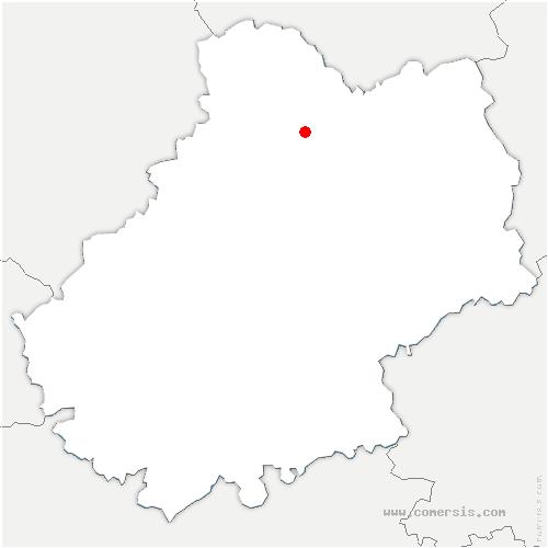 carte de localisation de Alvignac