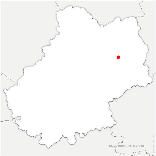 carte de localisation de Anglars