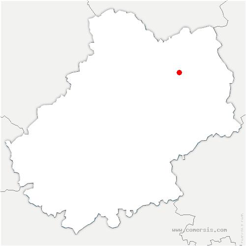 carte de localisation de Aynac