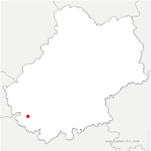 carte de localisation de Barguelonne-en-Quercy
