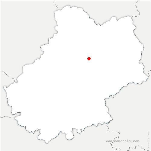 carte de localisation de Bastit