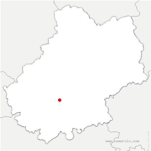 carte de localisation de Bellefont-La Rauze