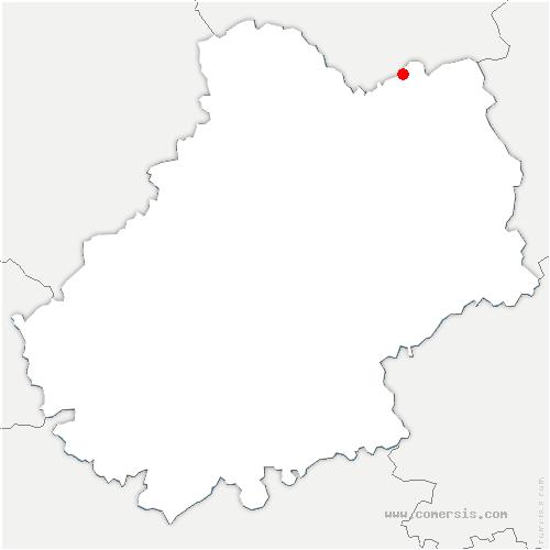 carte de localisation de Cahus