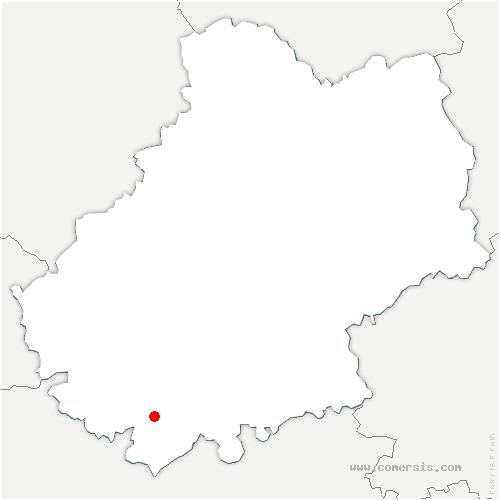 carte de localisation de Castelnau-Montratier-Sainte-Alauzie