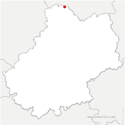 carte de localisation de Cavagnac