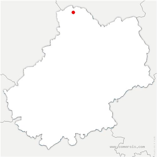 carte de localisation de Cressensac-Sarrazac