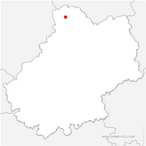 carte de localisation de Cuzance