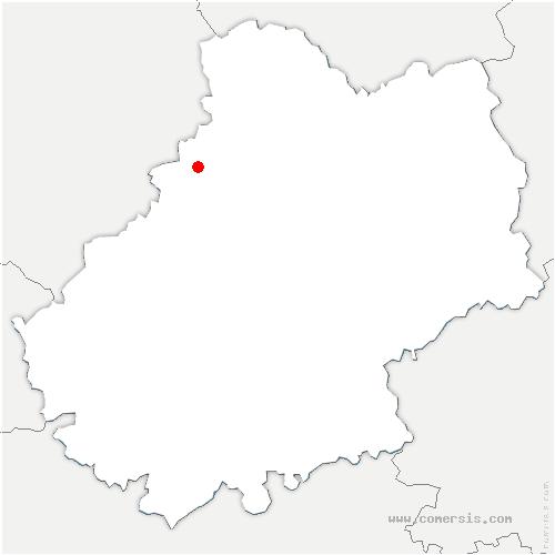 carte de localisation de Fajoles