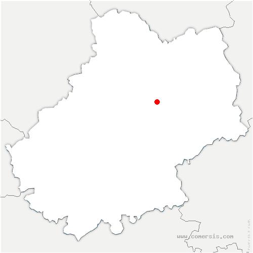 carte de localisation de Flaujac-Gare