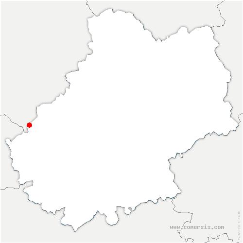carte de localisation de Frayssinet-le-Gélat