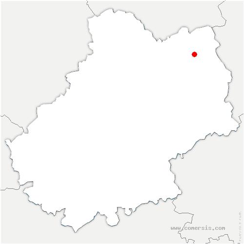 carte de localisation de Frayssinhes