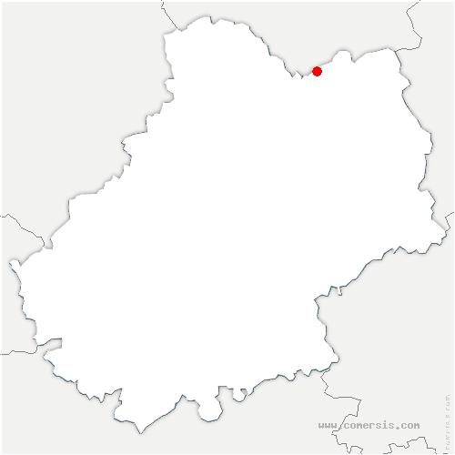 carte de localisation de Gagnac-sur-Cère