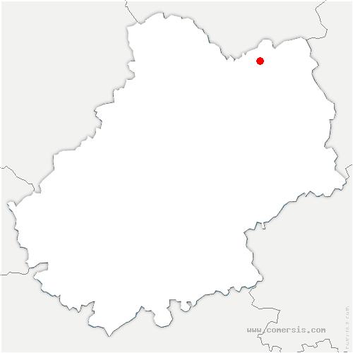 carte de localisation de Glanes