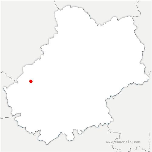 carte de localisation de Goujounac