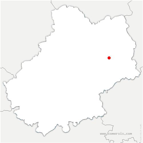 carte de localisation de Lacapelle-Marival