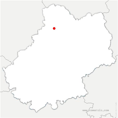 carte de localisation de Lacave
