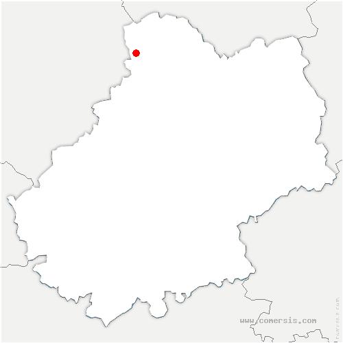 carte de localisation de Lachapelle-Auzac
