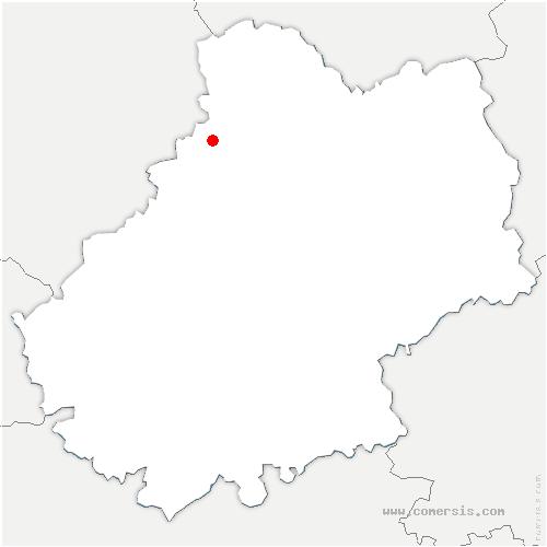 carte de localisation de Lamothe-Fénelon