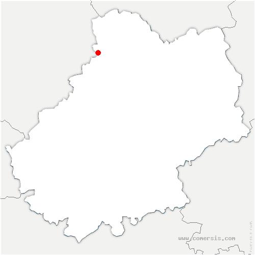carte de localisation de Lanzac