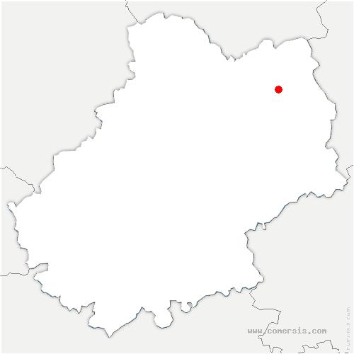carte de localisation de Latouille-Lentillac
