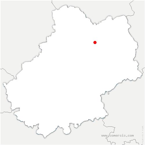 carte de localisation de Lavergne