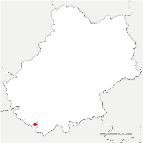 carte de localisation de Lendou-en-Quercy