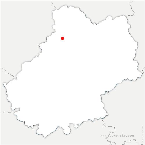 carte de localisation de Loupiac