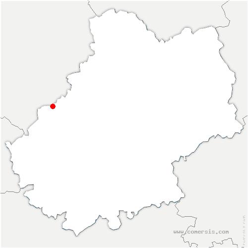 carte de localisation de Marminiac