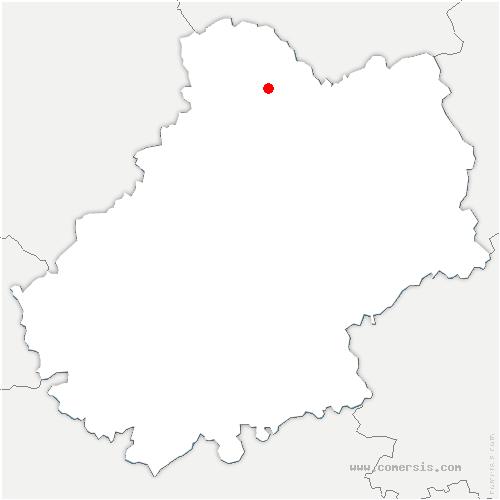 carte de localisation de Martel
