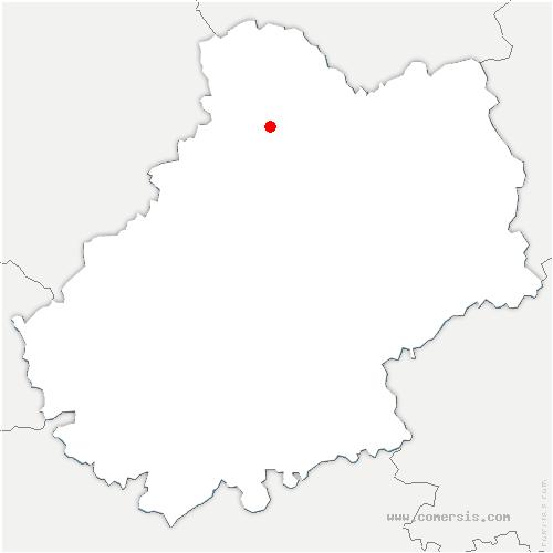 carte de localisation de Meyronne