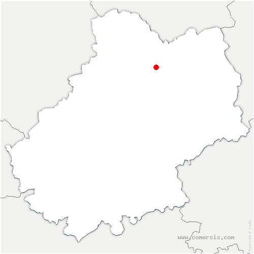 carte de localisation de Miers