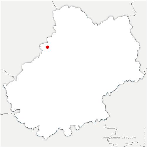 carte de localisation de Milhac