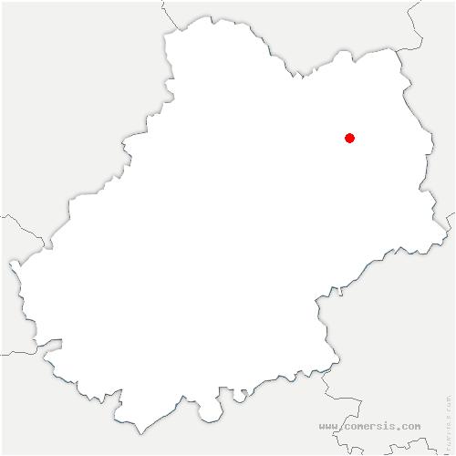 carte de localisation de Molières