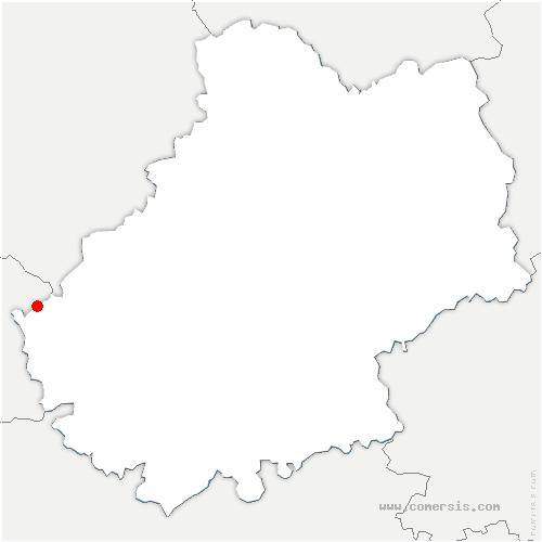 carte de localisation de Montcabrier