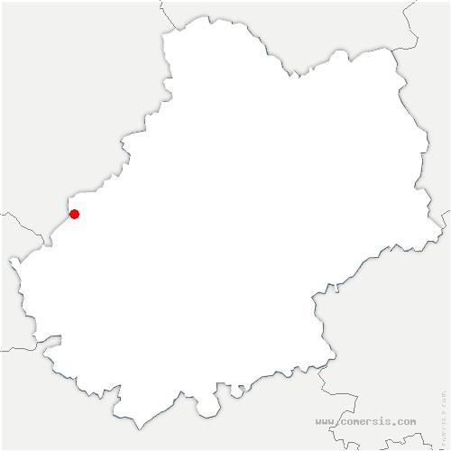carte de localisation de Montcléra