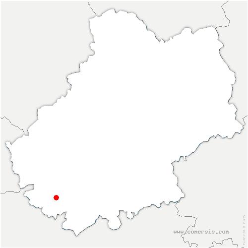 carte de localisation de Montcuq-en-Quercy-Blanc