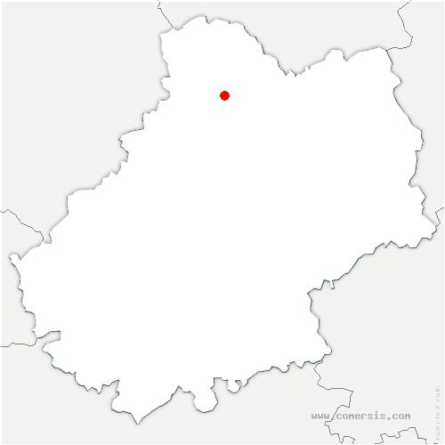carte de localisation de Montvalent