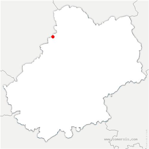 carte de localisation de Nadaillac-de-Rouge