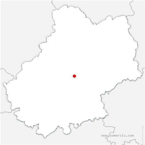 carte de localisation de Pechs-du-Vers