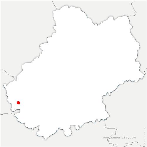 carte de localisation de Porte-du-Quercy