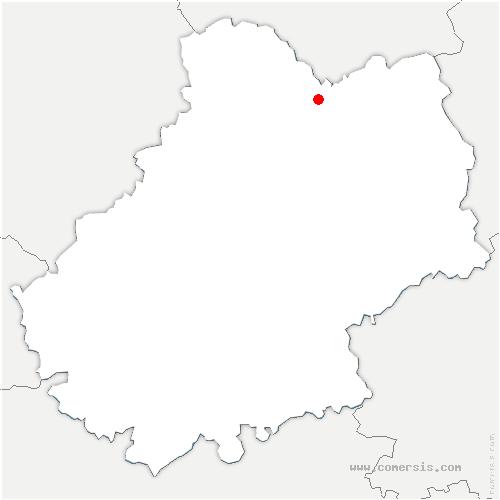 carte de localisation de Prudhomat