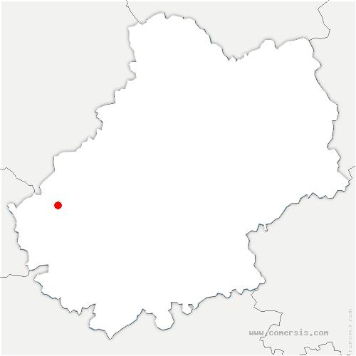 carte de localisation de Puy-l'Évêque