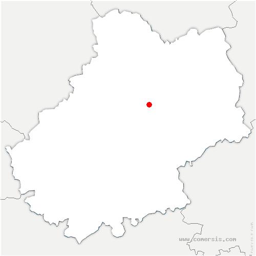 carte de localisation de Reilhac