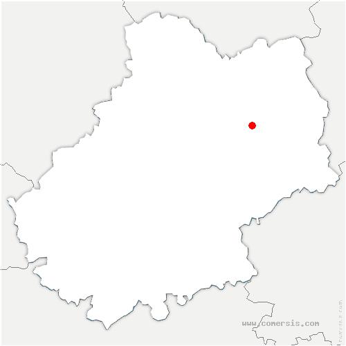 carte de localisation de Rudelle