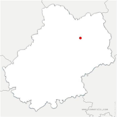 carte de localisation de Saignes