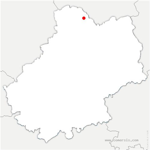 carte de localisation de Saint-Denis-lès-Martel