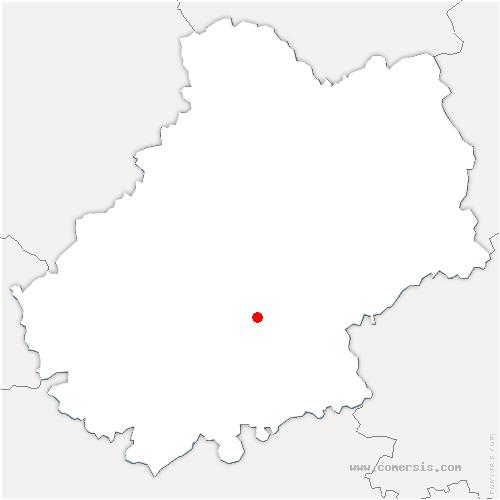 carte de localisation de Saint-Géry-Vers
